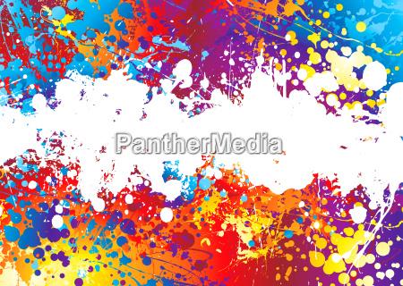 ink splat rainbow white